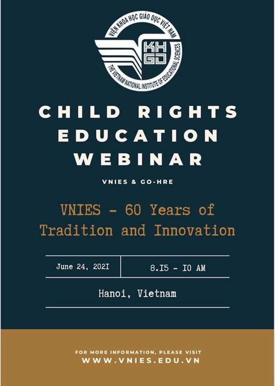 """Thông báo Hội thảo trực tuyến """"Giáo dục Quyền trẻ em"""""""